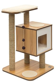 ♥ Cool Cat Accessories ♥ Cat trees without carpet to suit your modern or minimalist home decor. Beautiful cat furniture. Vesper Cat Furniture Cat Tree Without Carpet