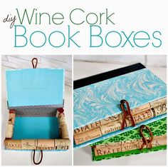 Upcycled wine cork book boxes