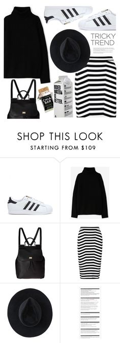 """""""Tricky Trend: Pencil Skirt and Sneakers"""" by houseofhauteness on Polyvore featuring moda, adidas, A.P.C., Dolce&Gabbana, Alexander Wang, Ryan Roche e Arche"""