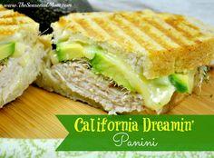 California Dreamin' Panini on MyRecipeMagic.com -- an all-time favorite sandwich: shaved turkey, Havarti cheese, avocado, sprouts, and a fresh citrus mayo!