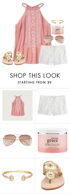 """Literally I liked and sorted 1k items today........"" by lucynew44 ❤ liked on Polyvore featuring Abercrombie & Fitch, J.Crew, H&M, philosophy, Kendra Scott and Jack Rogers"