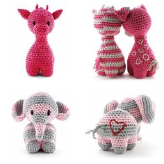 Bilderesultat for jarbo+heklet elefant Giraffe Crochet, Crochet Bunny, Crochet Animals, Diy Crochet, Crochet Toys, Craft Patterns, Crochet Patterns, Spinning Yarn, Stuffed Animal Patterns