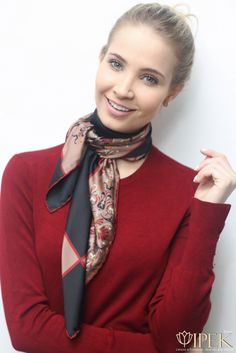 Cashmere Silk Scarf - Wear the Red Cashmere Sil by VIDA VIDA 5TYWmfC