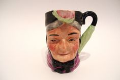 Vintage Toby Jug Pitcher Granny with Umbrella Handle 4 Inches Tall by okanaganvintage on Etsy