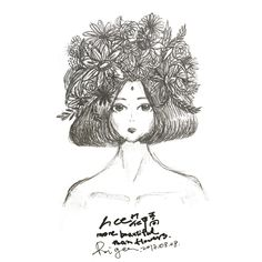 More beautiful than flowers  #illustration #sketch #girl #flowers
