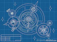 Blueprint Of Spase Mechanic Royalty Free Stock Images - Image ...