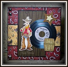 Cowboy thank you & birthday cards images from Art Impressions