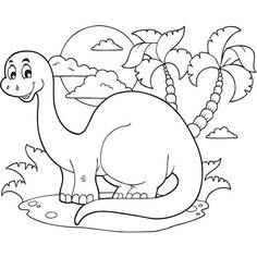 """Résultat de recherche d'images pour """"coloriage bébé dinosaure"""""""
