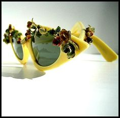 Cat-eye-sunglasses-eyewear 1950s Glasses <3 50s