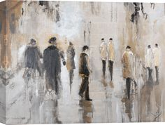 Street Walk Painting Print on Wrapped Canvas