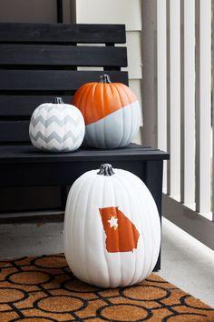 no-carve painted pumpkins