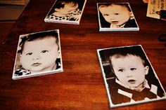 DIY canvas prints: a blank canvas, mod pog, scrapbook paper, and picture!