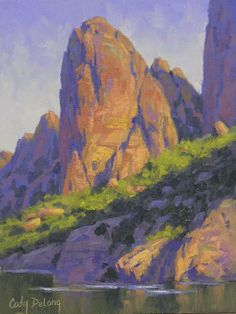 beautiful play of light by cody delong oil