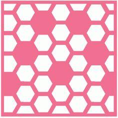 Силуэт Интернет-магазин: сотовые / шаблон шестиугольник
