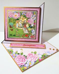 Springtime wishes easel card Hunkydory Crafts, Pink Cards, Burnley, Easel Cards, Card Card, Spring Time, Pink Color, Art Work, Card Stock