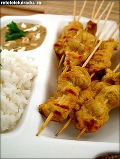 Sate ayam Sate Ayam, Indonesian Food, Waffles, Foods, Breakfast, Fine Dining, Food Food, Morning Coffee, Food Items