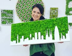 Home Interior Entrance Moss wall decoration/handmade product/moss design/skyline moss/home deco/moss wall art/interior desi.Home Interior Entrance Moss wall decoration/handmade product/moss design/skyline moss/home deco/moss wall art/interior desi Moss Wall Art, Moss Art, Home Deco, Deco Cafe, Moss Letters, Mo S, Art Of Living, Wall Design, Wall Decor