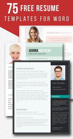 75 free resume templates for word freesumescom free resume templates - Christine Lders Lebenslauf