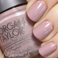 Morgan Taylor Perfect Match ($8.50, LoxaBeauty.com) is a cool, pink nude with a subtle silvery shimmer (two coats). Spring 2014