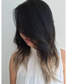 30 Fascinating Black Ombre Hair Ideas — Colors of Midnight Check more at http://hairstylezz.com/best-black-ombre-hair-ideas/