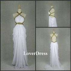 Forget prom dress i'd love this as my wedding dress  Sexy Prom Dress White Prom Dress Long Attractive by LoverDress, $155.00