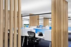 The Inner Workings: Case Meallin Offices by Mim Design Office Open Plan, Office Fit Out, Cool Office, Interior Design Blogs, Architecture Office, Architecture Design, Banks Office, Mim Design, Commercial Office Design