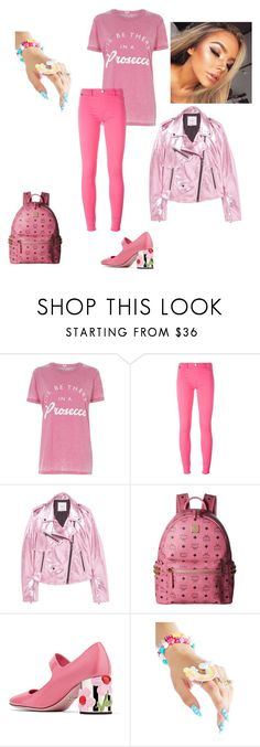 """""""Untitled #445"""" by yasm-ina ❤ liked on Polyvore featuring River Island, Love Moschino, MANGO, MCM, Prada and Rave Nailz"""