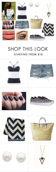 """""""lucy by the lake"""" by thalia-367 ❤ liked on Polyvore featuring Yves Saint Laurent, rag & bone/JEAN, Life's a Beach, Vans, Merona, Reeds Jewelers and With Love From CA"""