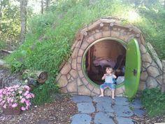 Hobbithuisje op Camping Geversduin, Castricum.