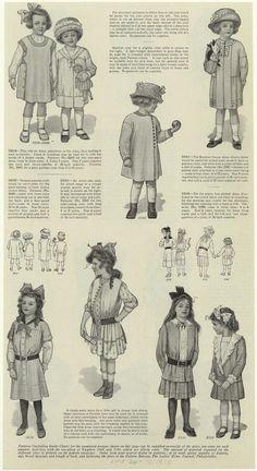 #Dresses for girls, 1910s