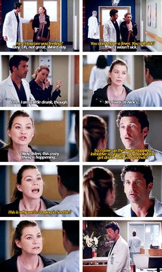 Meredith gets drunk and derek doesn´t get the problem Greys Anatomy Derek, Greys Anatomy Funny, Grey Anatomy Quotes, Grays Anatomy, Greys Anatomy Episodes, Greys Anatomy Characters, Tv Quotes, Movie Quotes, Grey Quotes