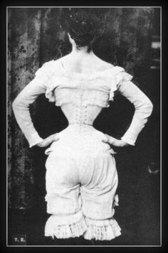 Fridge Magnet vintage image of Woman in a Corset with by Vividiom, $3.50