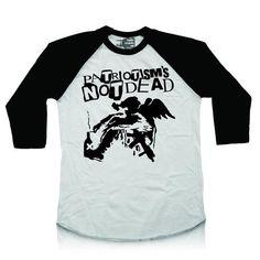 T-shirt (Raglan) - Patriotism's Not Dead