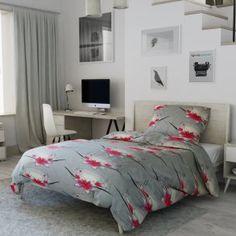 Flanelové povlečení šedé růžové květy květiny asie japonské sakura kaligrafie Comforters, Blanket, Furniture, Home Decor, Asia, Creature Comforts, Quilts, Decoration Home, Room Decor