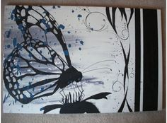 Butterfly Canvas Painting $70.00