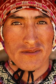 Peruvian Man. Art Wolfe Photography.