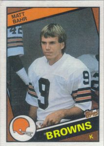 Matt Bahr 1984 Topps #48 football card Cleveland Browns History, Cleveland Browns Football, Dog Pounds, Football Conference, National Football League, Football Cards, Brownies, Nfl, Orange