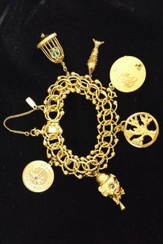 Diamond 14k Gold Over Brass Clip-On Charm Set Crown TFS Jewelry Best Friend Heart