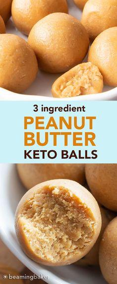 Almond Butter Keto, Coconut Peanut Butter, Low Carb Peanut Butter, Quick Keto Dessert, Quick Easy Desserts, Healthy Dessert Recipes, Keto Recipes, Peanut Butter Energy Balls Recipe, Keto Peanut Butter Cookies