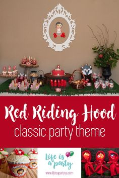 Red Riding Hood party Red Riding Hood Party, Party Themes, Classic, Derby, Classic Books