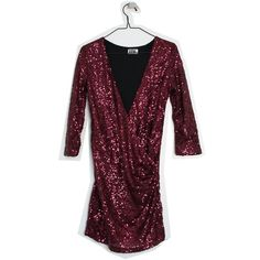 Red sequin dress, XS - Remarket / ida365 Red Sequin Dress, Sequins, Tunic Tops, Collection, Dresses, Women, Fashion, Vestidos, Moda