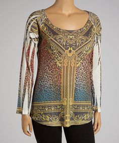 Take a look at this Orange Leopard Sublimation Top - Plus by Poliana Plus on #zulily today! $20 !!
