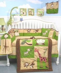 SoHo Monkey Savannah Baby Crib Nursery Bedding Set 13 pcs included Diaper Bag with Changing Pad & Bottle Case SoHo Designs,http://www.amazon.com/dp/B000XS1WLU/ref=cm_sw_r_pi_dp_s-5mtb04RGV1M2BN