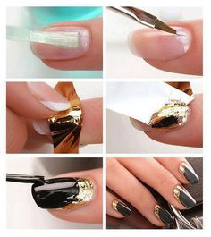 black and gold design in 5 steps
