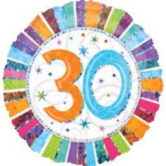 18'' Radiant Birthday 30 Balloon (Pack of 5)