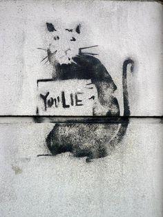 StreetArt in Madrid, Spain by Banksy http://pinterest.com/daniellapostma/