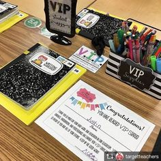I love seeing my VIP set inspired by @tattooedteacherblog in action!! You can grab the certificate, sign & supplies label for free in my TpT store! Repost from @targetteachers If you don't have space for a separate VIP station in the room, bring the VIP table to their individual desk like @teachingwithmst #targetteachers