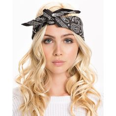 Sweet Bandana Abeo ($31) ❤ liked on Polyvore featuring hair, hairstyles, accessories, beauty, hair styles, accessories miscellaneous, black et womens-fashion