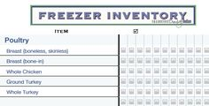 Take inventory of your freezer!