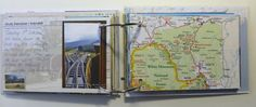 """Bernice from """"Newly Creative"""" blogged this really creative mini-album made from postcards and maps from a recent holiday. The post includes full details of the book, and she even shares the finished journal, page by page in a video too. #GoingPostal"""